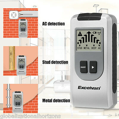 New 4 in1 Multi Detector Stud Wall Metal AC Live Wire Cable Joist Scanner Finder