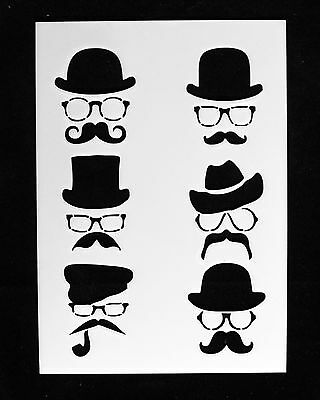 Reusable Stencil Vintage Moustache stencils, Furniture Fabric Movember
