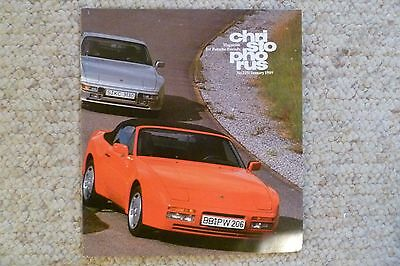 Porsche Christophorus Magazine English #215 January 1989 RARE!! Awesome L@@K