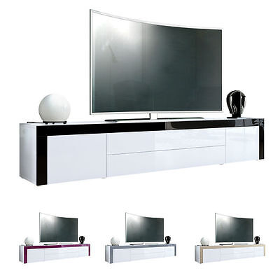 "White High Gloss Modern TV Stand Unit Media Entertainment Center ""La Paz"""