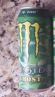Monster Energy Drink 16oz M-100 GHOST 2015 Release Can - Full New