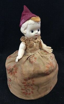 Rare! VINTAGE CELLULOID Half Doll Dress MADE IN JAPAN