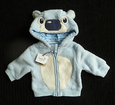 Baby clothes BOY premature/tiny<7.5lbs/3.4kg NEW! soft fleece zip hood jacket