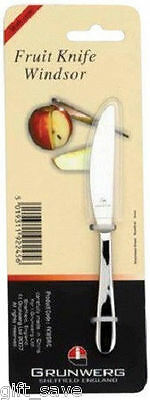 Grunwerg Windsor Fruit Knife With Case Stainless Steel