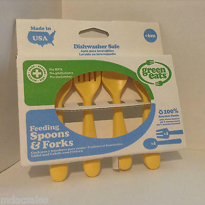 In Box! Green Eats Feeding Spoons & Forks Set