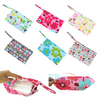 Baby Waterproof Travel Wet Dry Storage Bag Tote Cloth Diaper Nappy Pocket Pouch