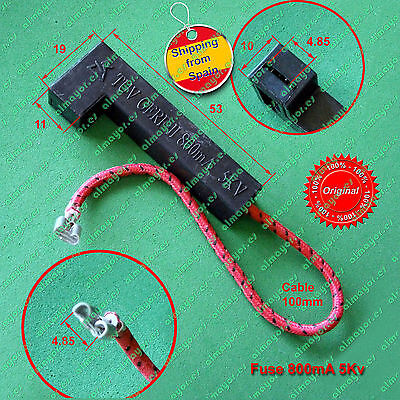 Microwave oven 5Kv fuse 800mA (0.8A), complete with holder, fusible microondas