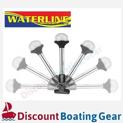 1x Fold Down LED All Around Anchor 360degree White Light, 228mm, Boating Fishing