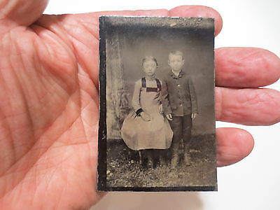 "RARE MEDICAL ODDITY TINTYPE PHOTOGRAPH ""MONGOLISM IN DOWN`S SYNDROME"" c1880S"