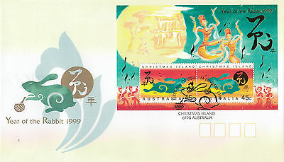 Christmas Island 1999 Year of the Rabbit FDC
