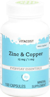 Zinc and Copper supplement - 15mg / 1mg x 100 capsules
