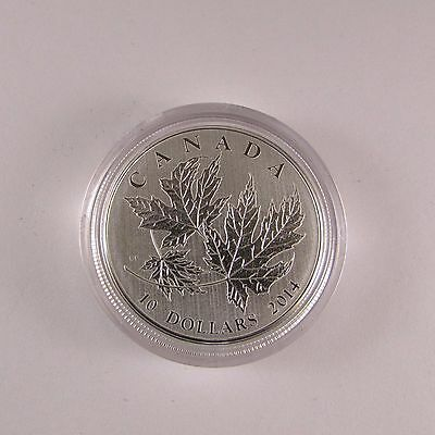 2014 'Maple Leaf' 1/2oz Specimen $10 Silver Coin .9999 Fine #04716 or 04773