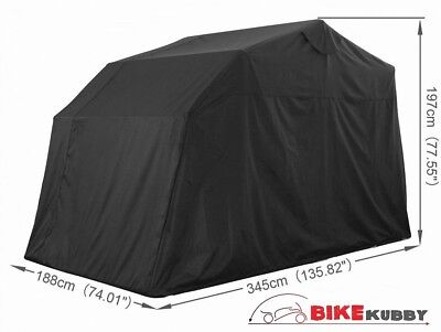 Cruiser Touring Large Motorcycle Cover Retractable Shelter Tent Garage Portable