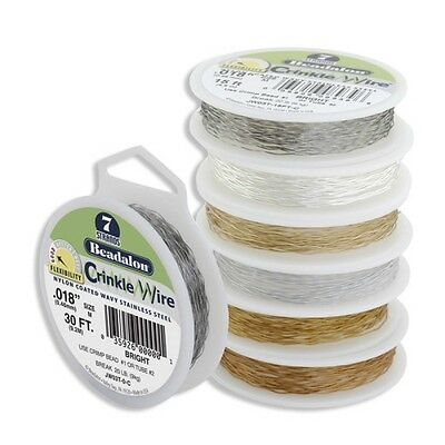 Beadalon Crinkle Wire - Assorted Colours & Sizes + FREE GIFT