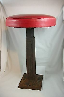 Antique Art Deco Soda Fountain Bar Stool Vintage Industrial Ice Cream Parlor Old