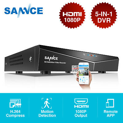 SANNCE 1080N 8CH 4IN1 DVR h.264 HDMI P2P Video Recorder QR Code Security System