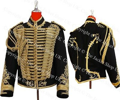 Hussars Jacket - Gilt Braid Dolman Shoulder Boards Aiguillette