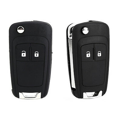 2 Button Fob Remote Uncut Blade Car Key Case For Vauxhall Astra Insignia