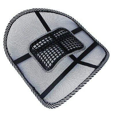 Car Office Seat Chair Massage Back Lumbar Support Mesh Ventilate Cushion Pad DM