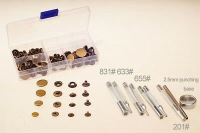 Leather Craft Tools Kit Die Puncher Buttom with Snap Fastener Rivet Setter Base