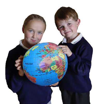 Brainstorm Fact Finders - Inflatable Globe **New**