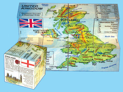 United Kingdom Cube - Geography by ZooBooKoo **New**