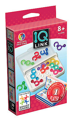 Smart Games IQ Link - Fit All The Puzzle Pieces On The Game Board - NEW