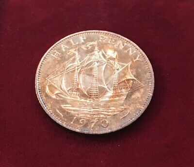 Not Issued For Circulation British Proof 1970 Ship Half Penny Stunning