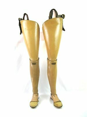 1900's Antique  Prosthetic Double Amputee Jointed Wooden Legs Oddities Pair
