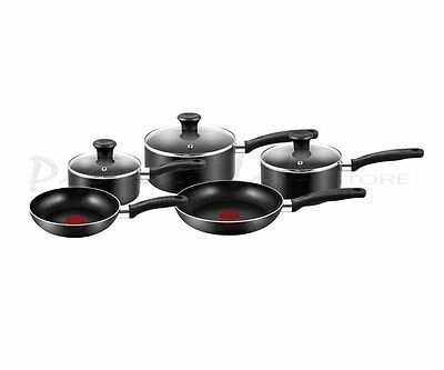 Tefal A157S545 Bistro Black Cookware Set 5 Piece with Thermos