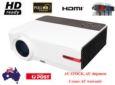 1080P HD Ready 5000 Lumens 10000:1 Home Theater USB HDMI LCD LED Video Projector