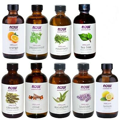 NOW Foods 4 oz Essential Oils (with Optional Glass Dropper) - Same Day Shipping