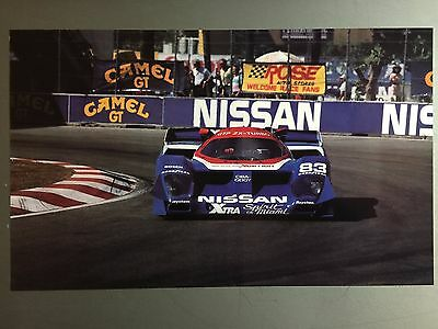 Poster RARE! Picture 1990 Nissan GTP Race Car Print Awesome L@@K