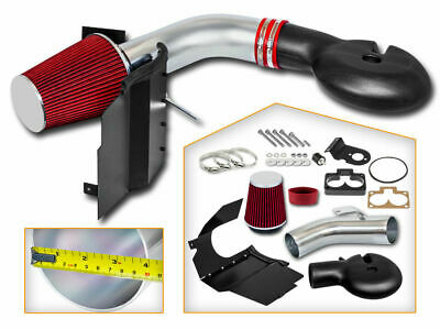Cold Heat Shield Air Intake + RED Filter for 98-03 Durango 5.2L 5.9L V8