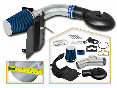 Cold Heat Shield Air Intake + BLUE Filter for 98-03 Durango 5.2L 5.9L V8