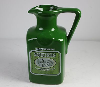 """Squires London Dry Gin Porcelain Bar Water Jug/pitcher *  * 6 5/8"""" Tall"""