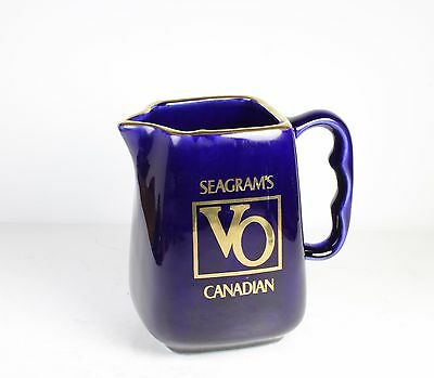 """Seagram's Vo Porcelain Bar Water Jug/pitcher *  * 5"""" Tall"""