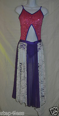 New Bal Togs  adult size small performance dance dress with sequins and lace