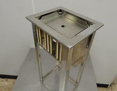 "Stainless Steel Square Plate Dispenser, New ""Scratch & Dent"""