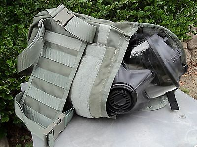 Avon Tactical Gas Mask Pouch/Carrier - Military Issue w/Drop-Leg (Thigh-Straps)