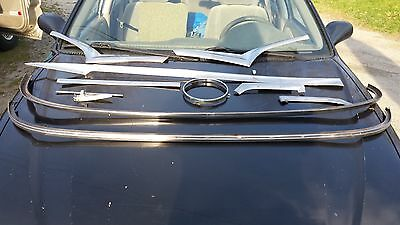 1955 Ford Victoria Stainless Trim Pieces & Driver's Side Front Fender Mirror Mou
