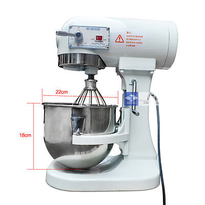 5L Household Food Dough Mixer Egg Beater Bakery Dough Mixing Machine 220V