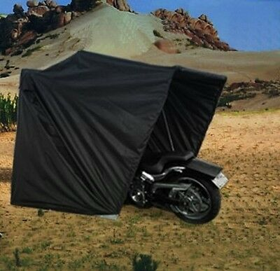 Portable Waterproof Touring Motorcycle Garage Shelter Tent Cover Rustproof Frame