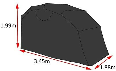 Portable Waterproof Cruiser Motorcycle Garage Shelter Tent Cover Rustproof Frame