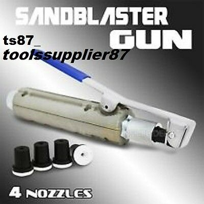 Sand Blasting Gun NEW TYPE with 4 Ceramic Nozzles SIZE 2,2.5,3,3.5mm SANDBLASTER
