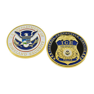 DHS Challenge Coin Federal Protective Service Police Badge Homeland Security