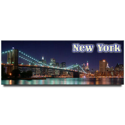 Fridge magnet with panoramic view of New York, USA - Brooklyn Bridge