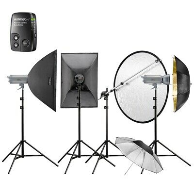 Walimex pro Studioblitz Set VC-400/400/300 Excellence Performer 4/4/3 2SB2RS+