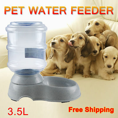 3.5 liters Large Automatic Pet Dog Cat Food Water Feeder Dispenser Plastic Bowl