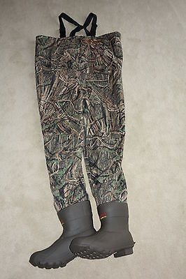 Men Breathable Boot Foot Lug Fishing/Hunting Chest Wader Size 9 Shadow Grass 400